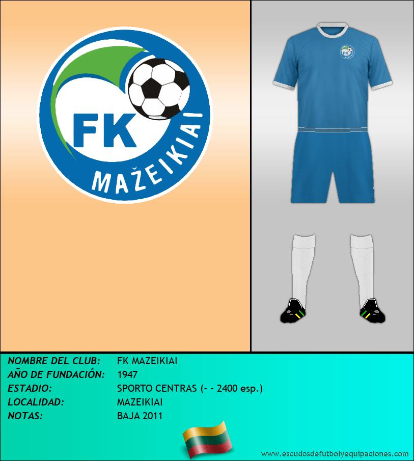Escudo de FK MAZEIKIAI