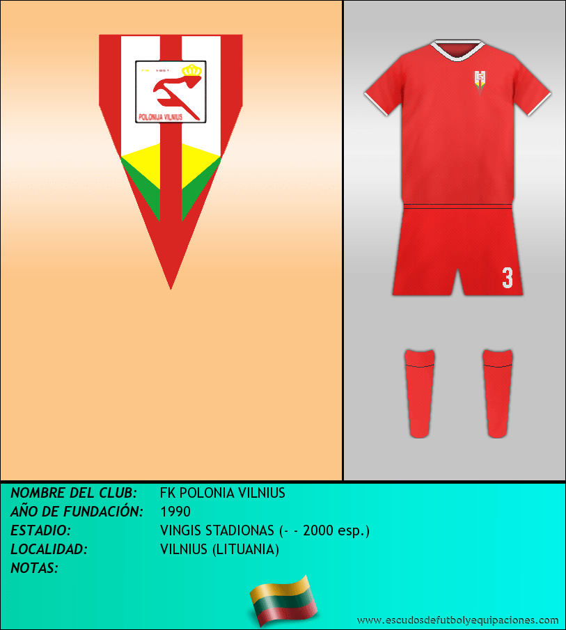 Escudo de FK POLONIA VILNIUS
