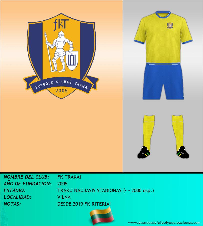 Escudo de FK TRAKAI