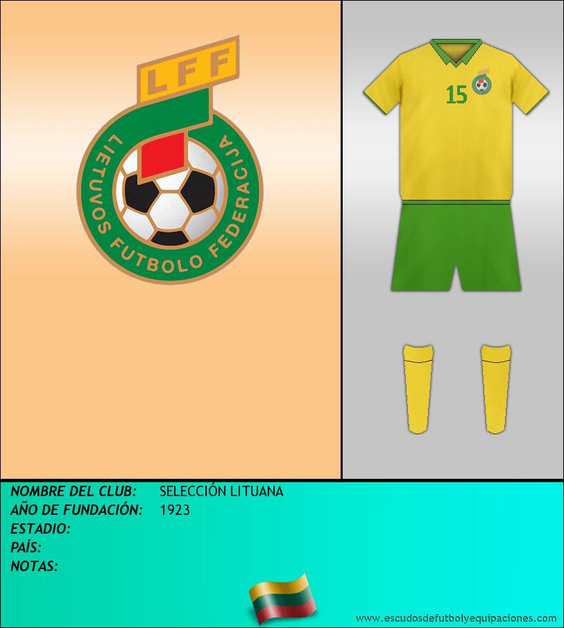 Escudo de SELECCIÓN LITUANA
