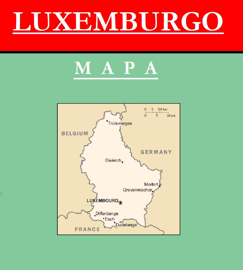 Escudo de MAPA DE LUXEMBURGO
