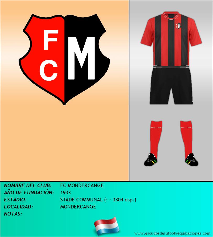 Escudo de FC MONDERCANGE