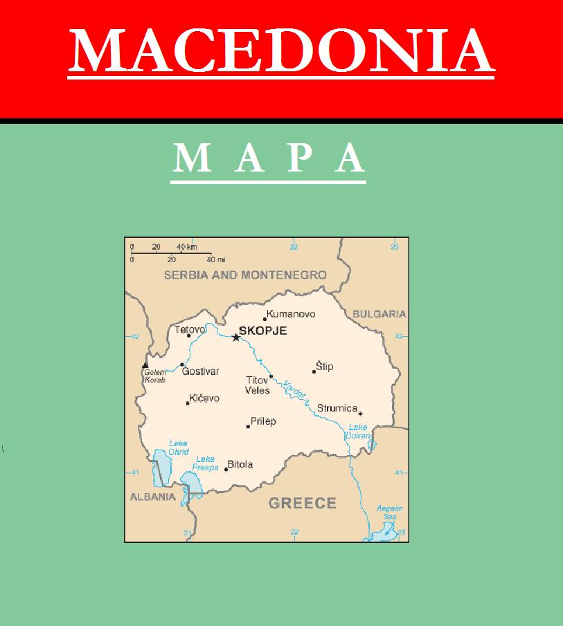 Escudo de MAPA DE MACEDONIA