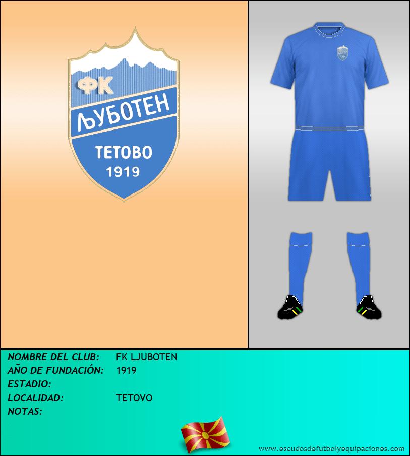 Escudo de FK LJUBOTEN
