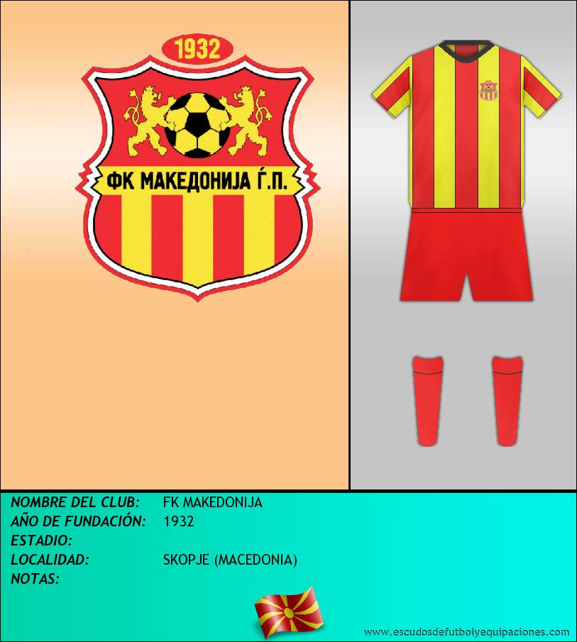 Escudo de FK MAKEDONIJA