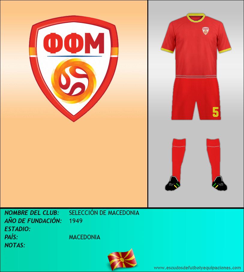 Escudo de SELECCIÓN DE MACEDONIA