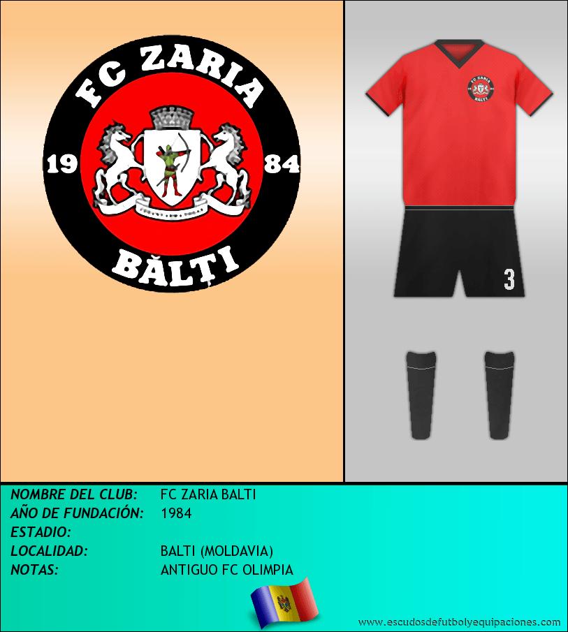 Escudo de FC ZARIA BALTI
