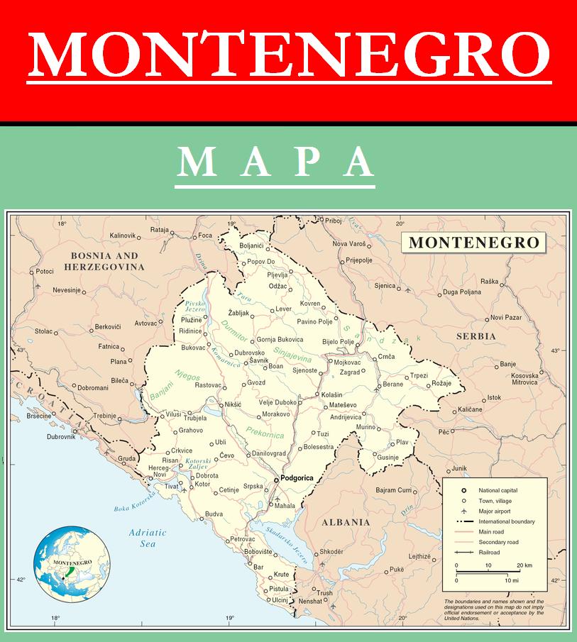 Escudo de MAPA DE MONTENEGRO