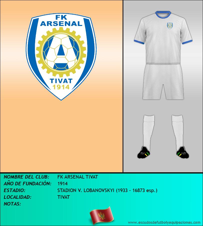 Escudo de FK ARSENAL TIVAT