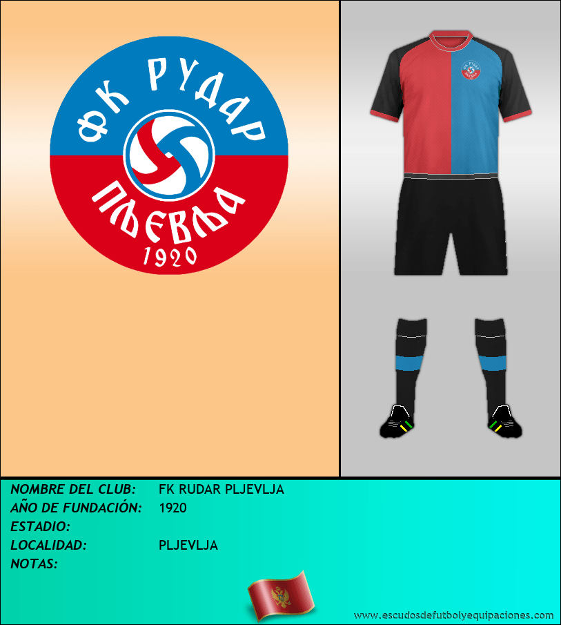 Escudo de FK RUDAR PLJEVLJA
