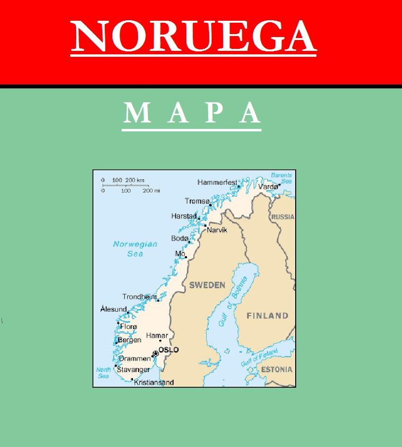 Escudo de MAPA DE NORUEGA