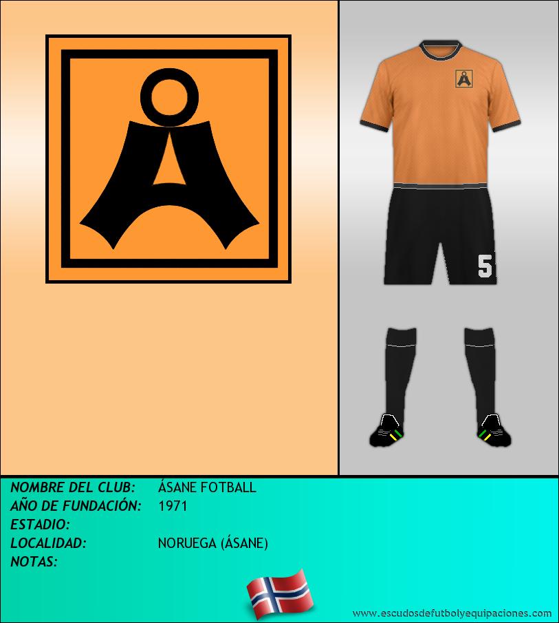Escudo de ÁSANE FOTBALL