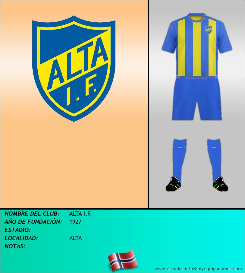 Escudo de ALTA I.F.