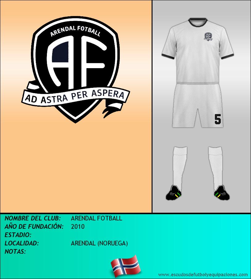 Escudo de ARENDAL FOTBALL