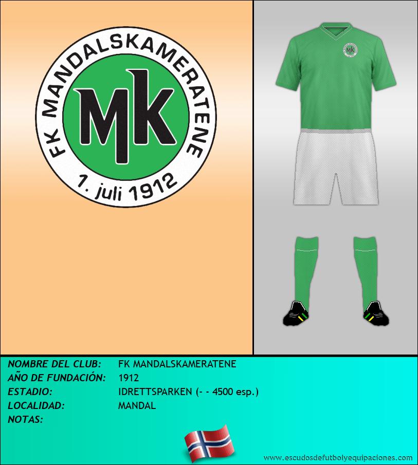 Escudo de FK MANDALSKAMERATENE