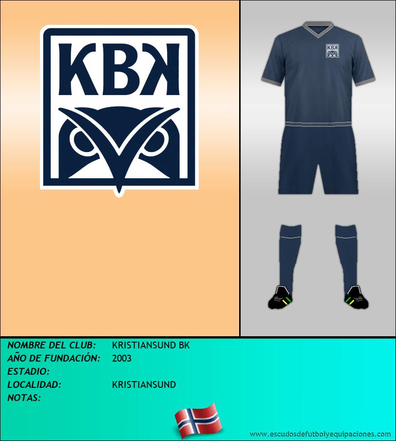 Escudo de KRISTIANSUND BK