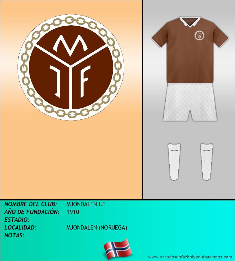 Escudo de MJONDALEN I.F