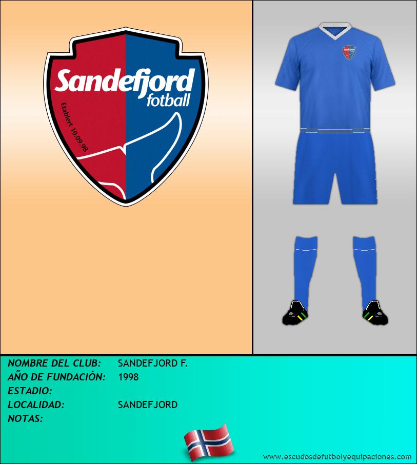 Escudo de SANDEFJORD F.