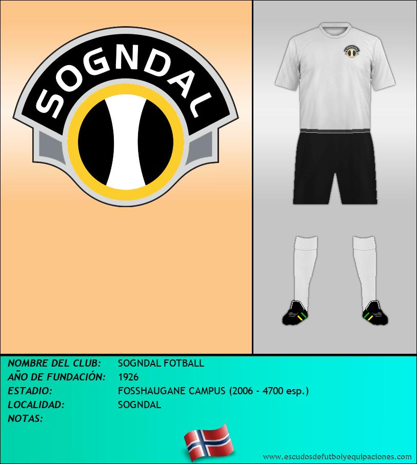 Escudo de SOGNDAL FOTBALL