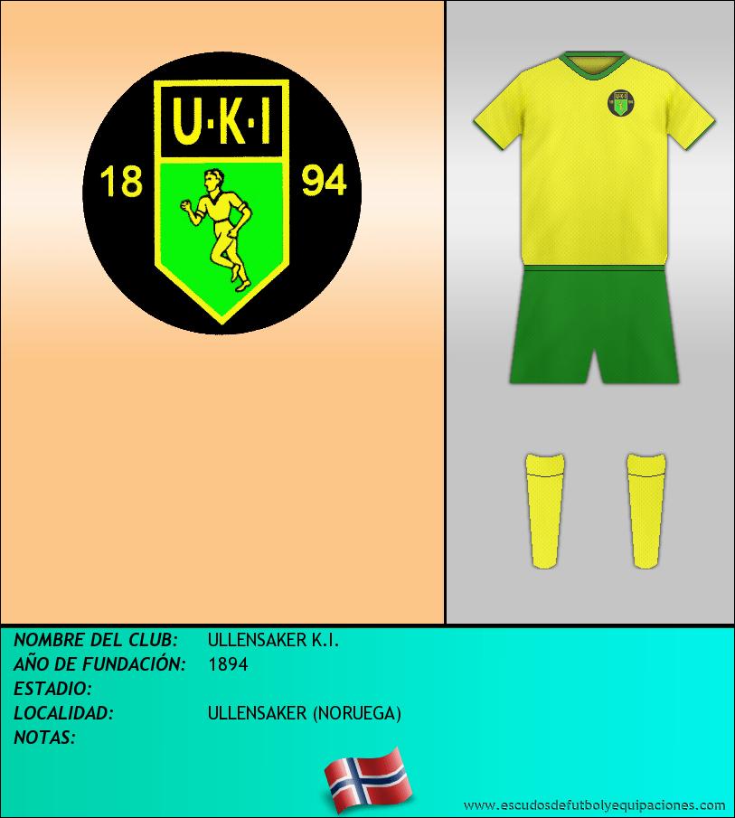 Escudo de ULLENSAKER K.I.