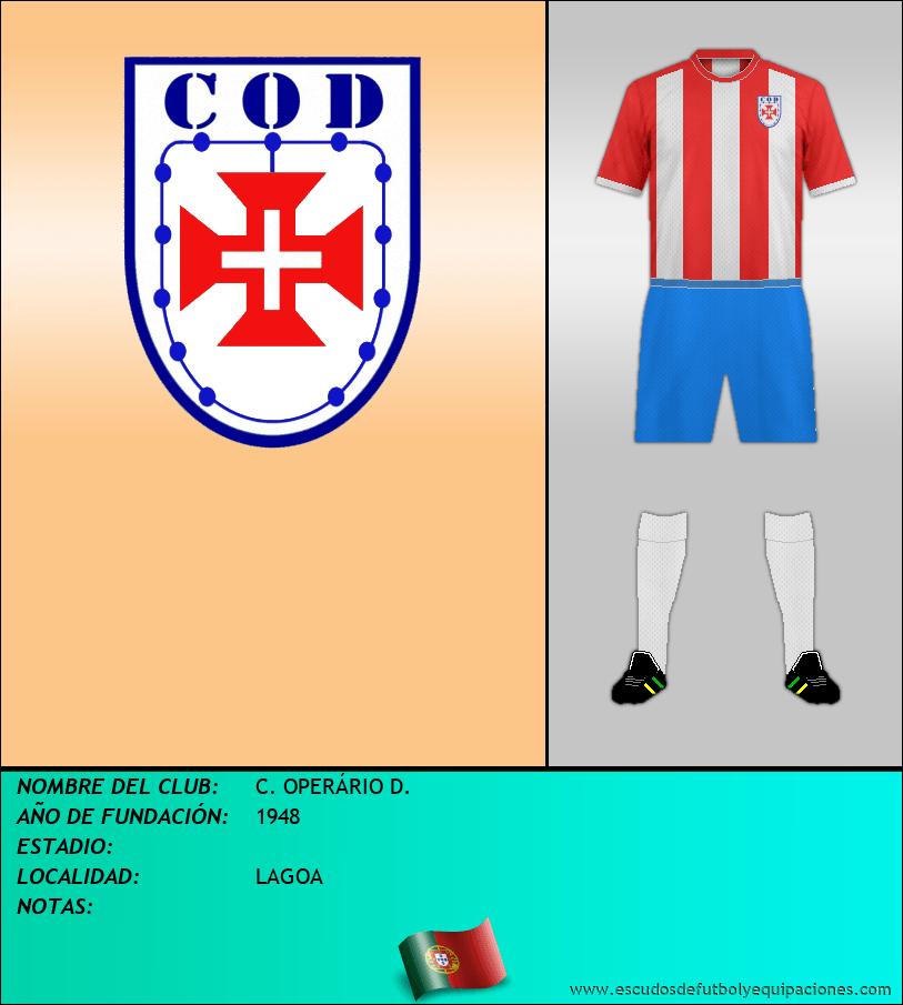 Escudo de C. OPERÁRIO D.