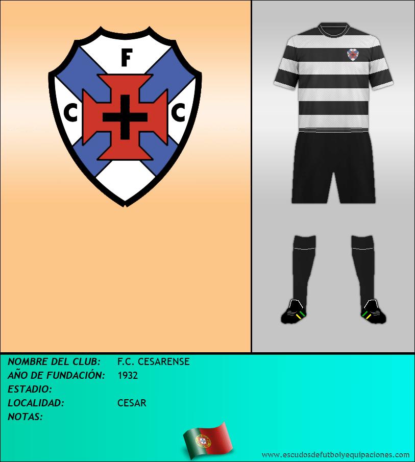 Escudo de F.C. CESARENSE