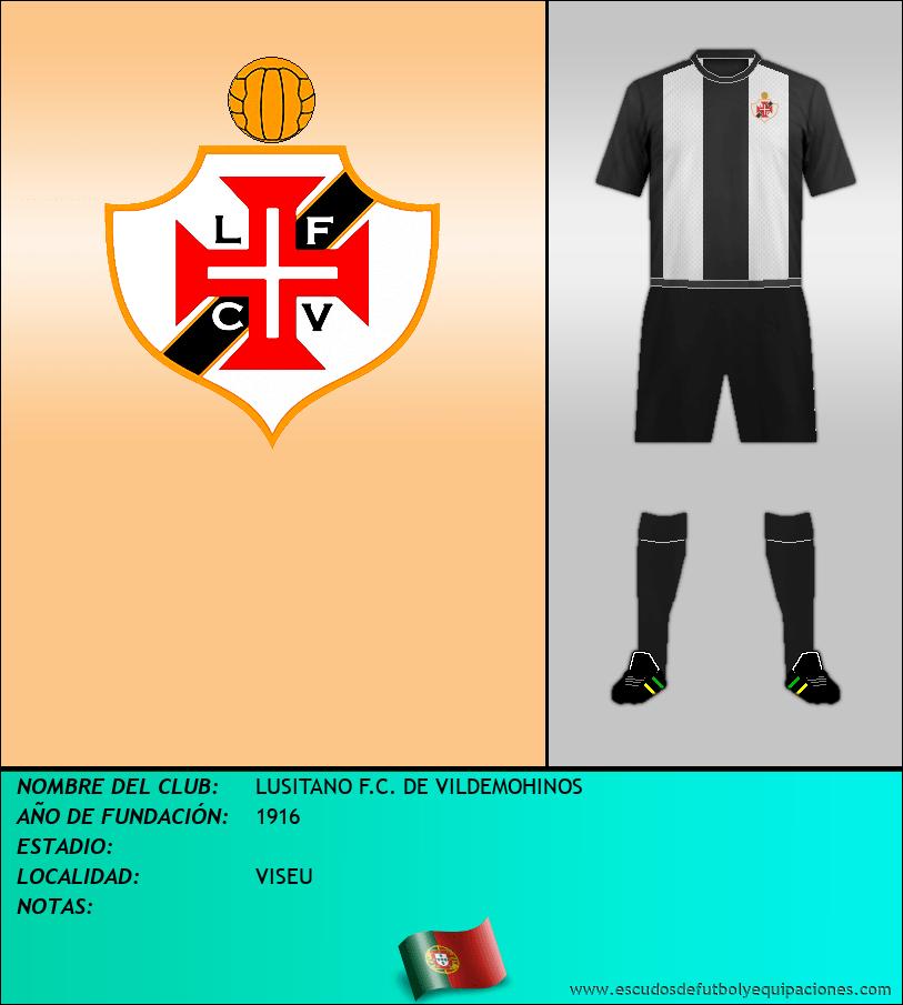 Escudo de LUSITANO F.C. DE VILDEMOHINOS