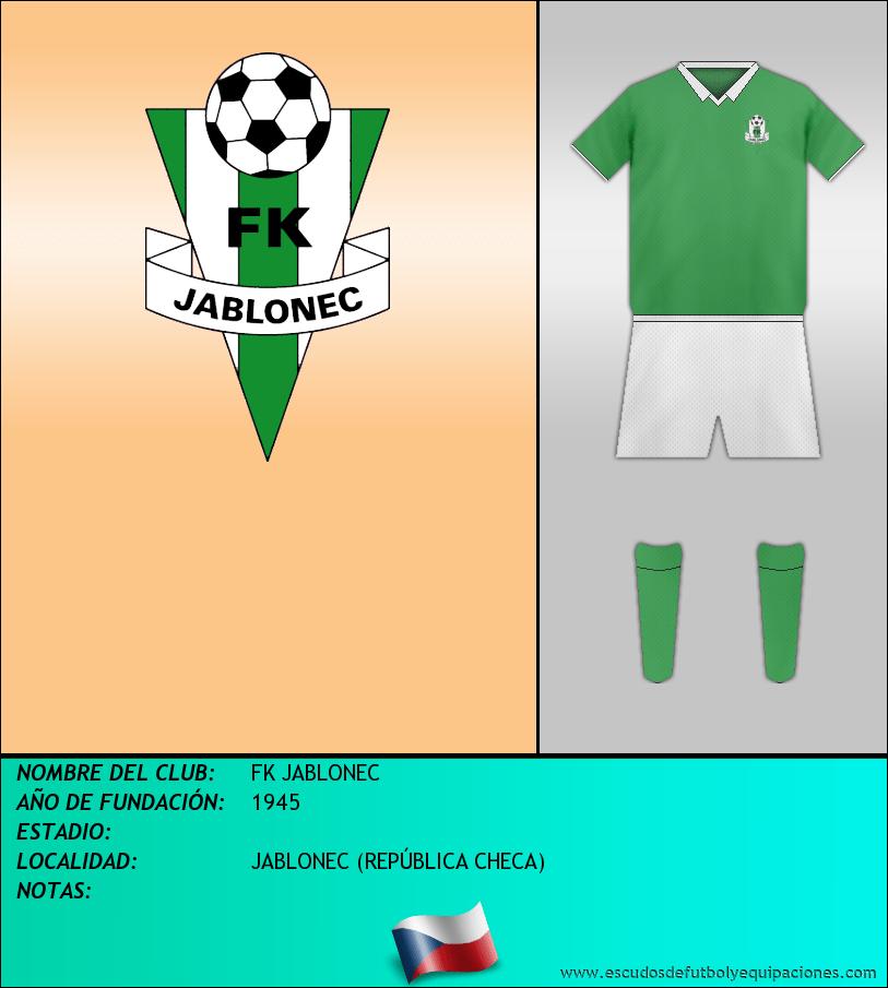 Escudo de FK JABLONEC