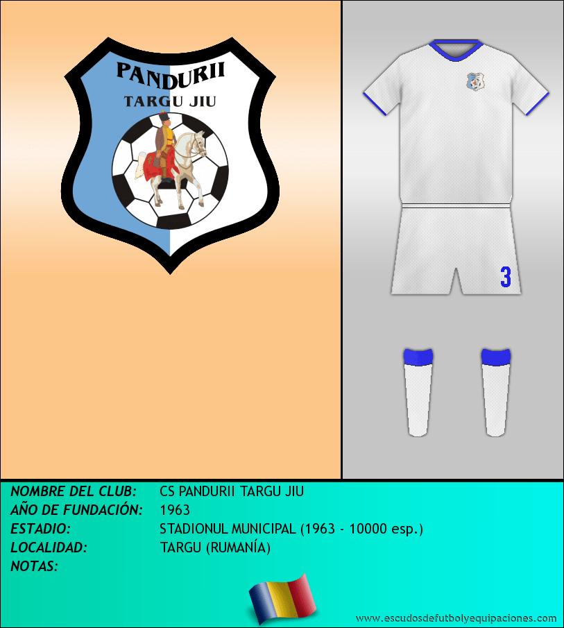 Escudo de CS PANDURII TARGU JIU