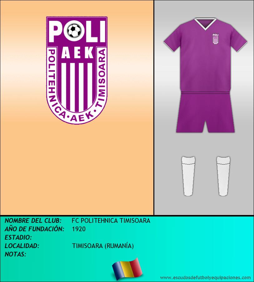Escudo de FC POLITEHNICA TIMISOARA