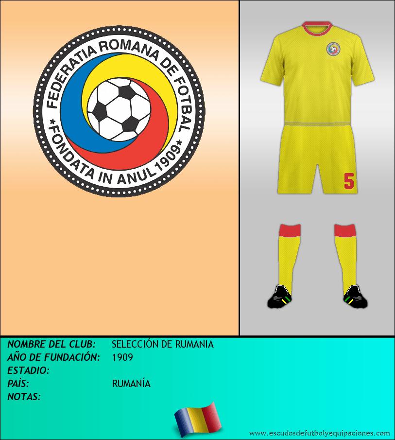 Escudo de SELECCIÓN DE RUMANIA
