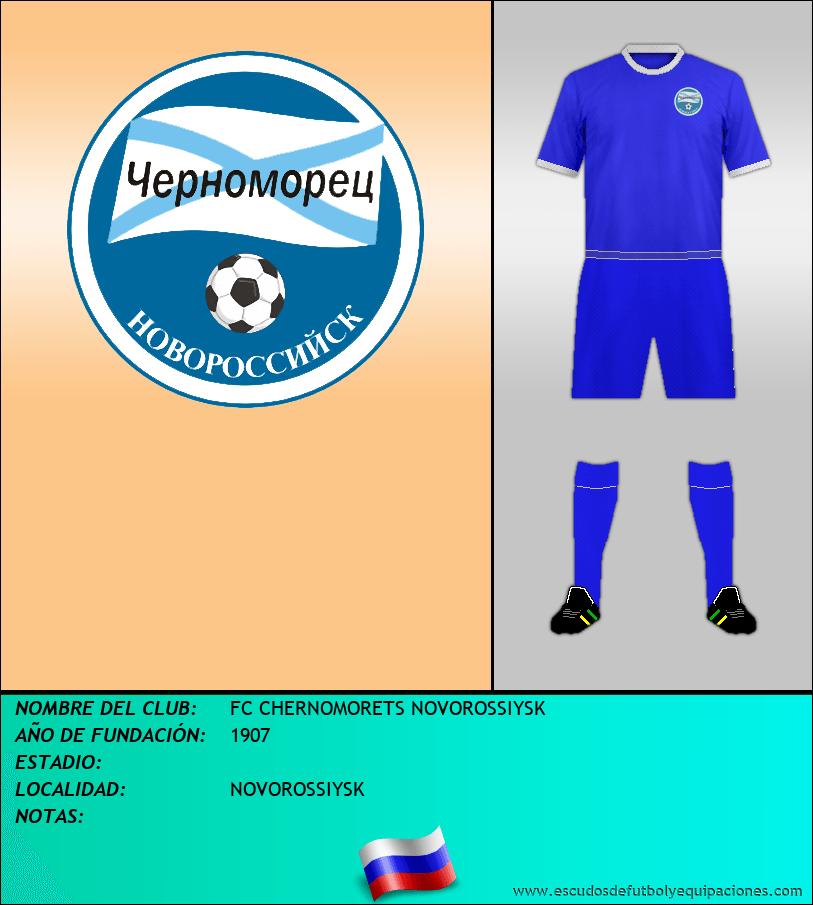 Escudo de FC CHERNOMORETS NOVOROSSIYSK