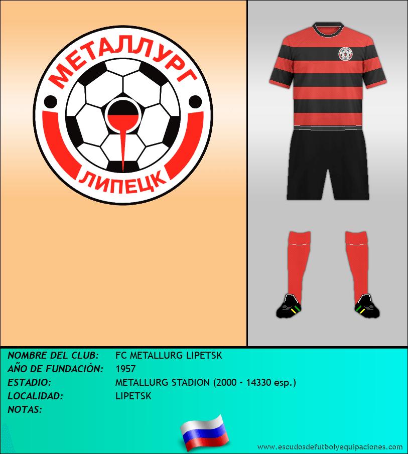 Escudo de FC METALLURG LIPETSK