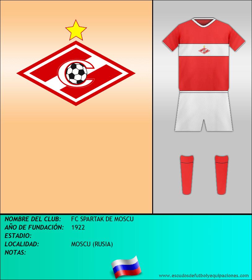 Escudo de FC SPARTAK DE MOSCU