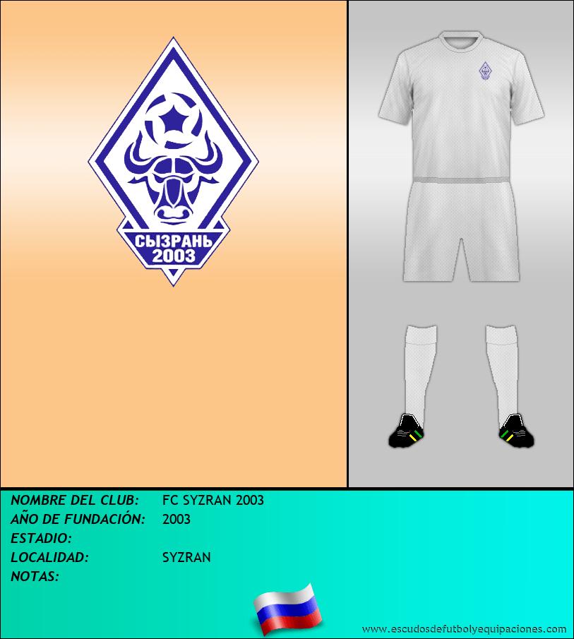 Escudo de FC SYZRAN 2003