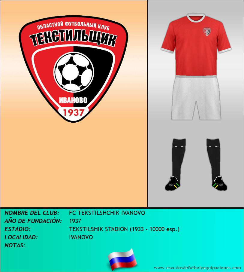 Escudo de FC TEKSTILSHCHIK IVANOVO