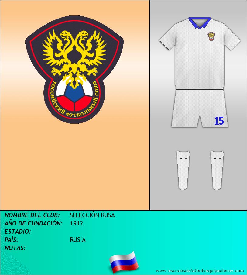 Escudo de SELECCIÓN RUSA