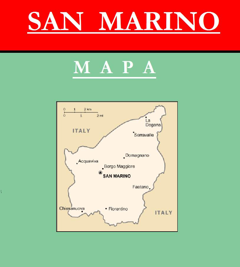 Escudo de MAPA DE SAN MARINO