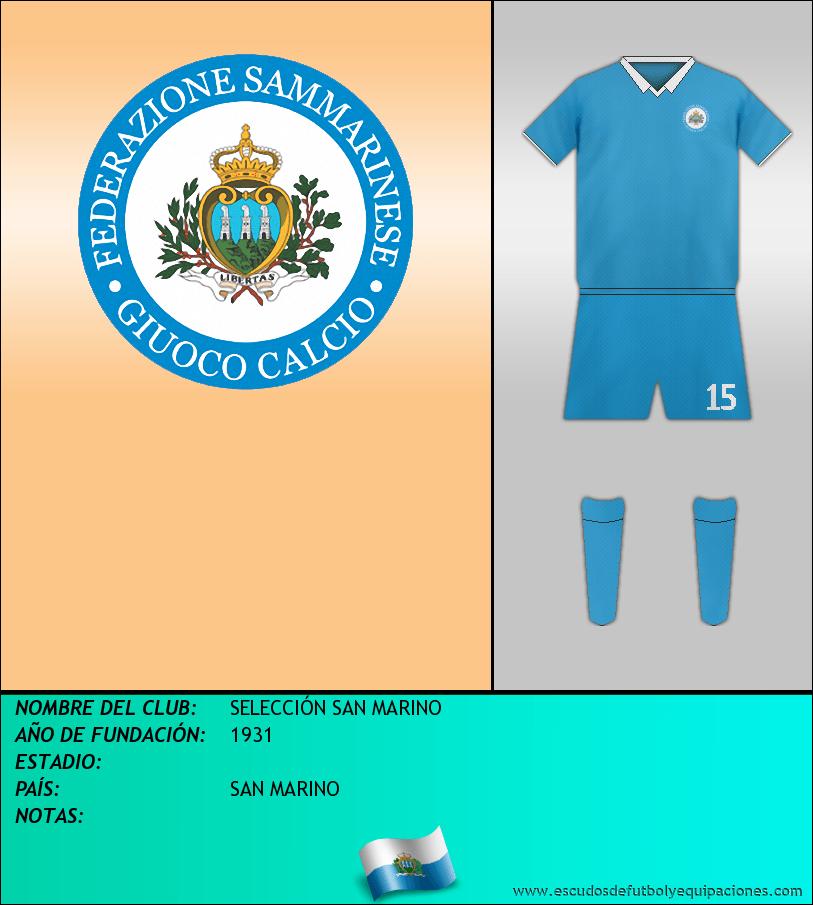 Escudo de SELECCIÓN SAN MARINO