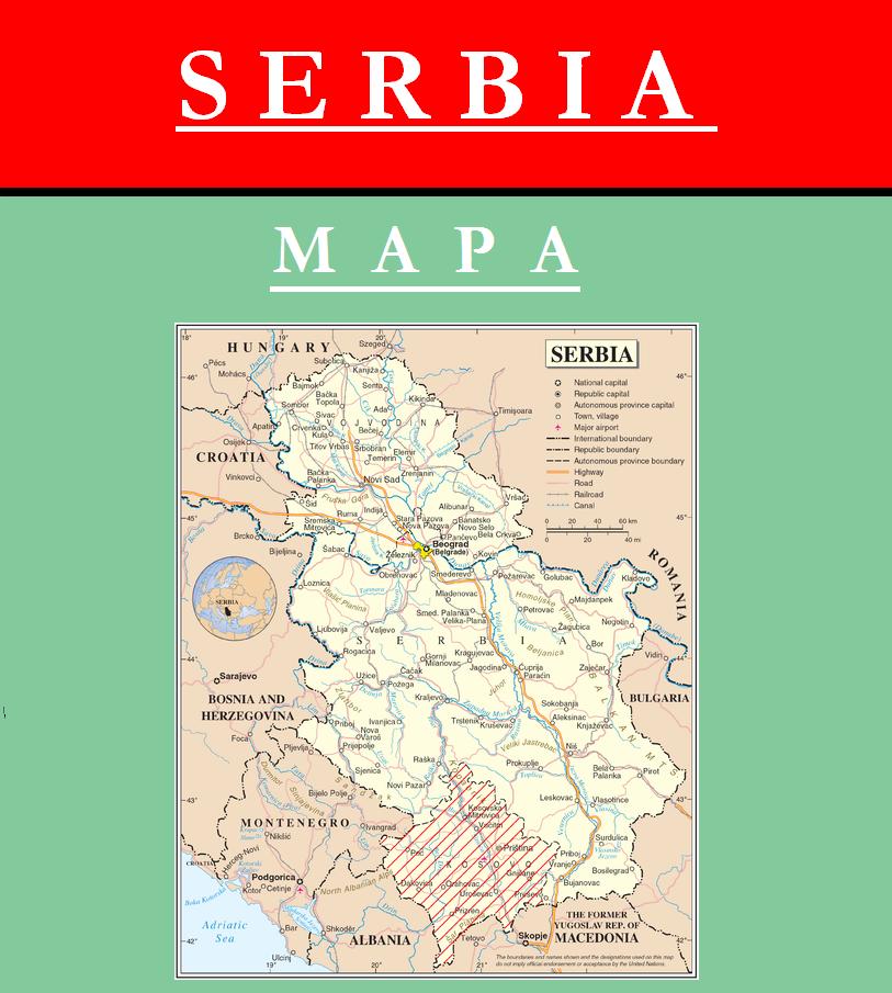 Escudo de MAPA DE SERBIA
