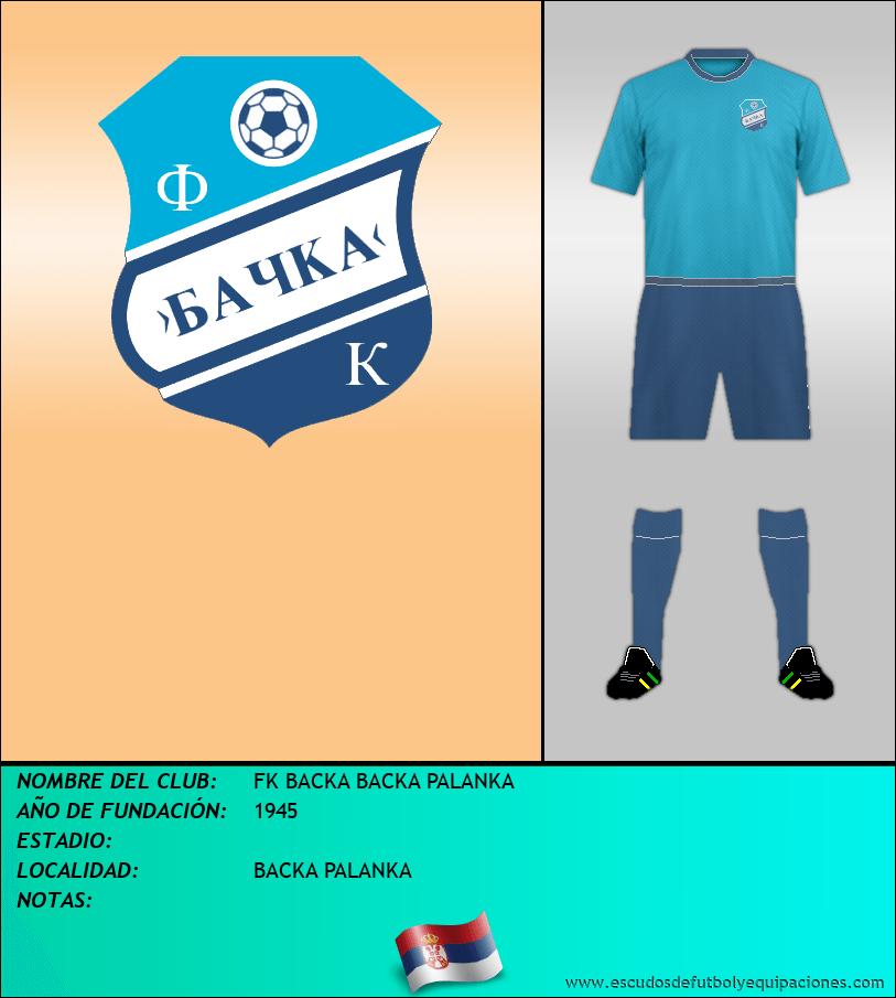 Escudo de FK BACKA BACKA PALANKA