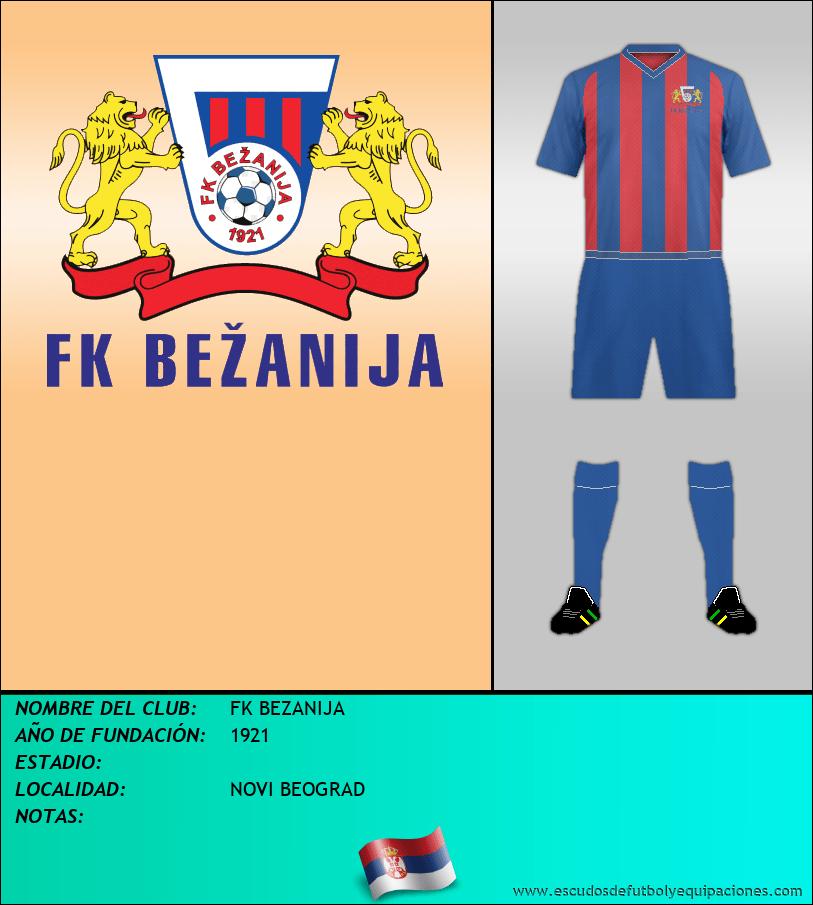 Escudo de FK BEZANIJA