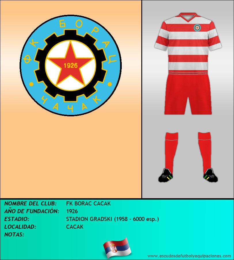 Escudo de FK BORAC CACAK
