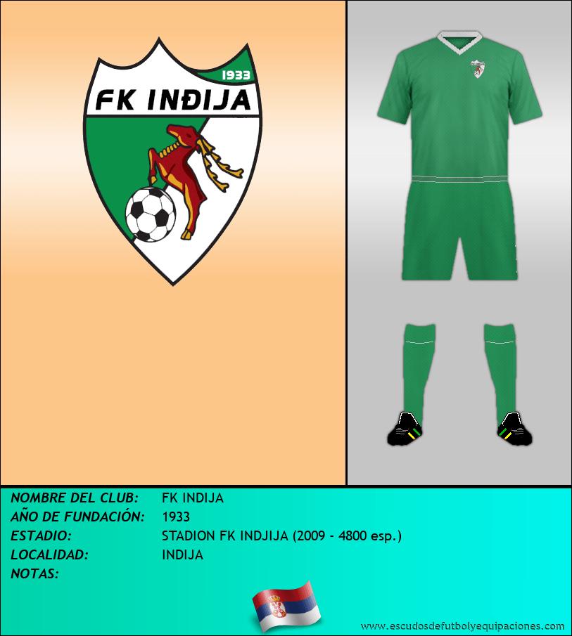 Escudo de FK INDIJA