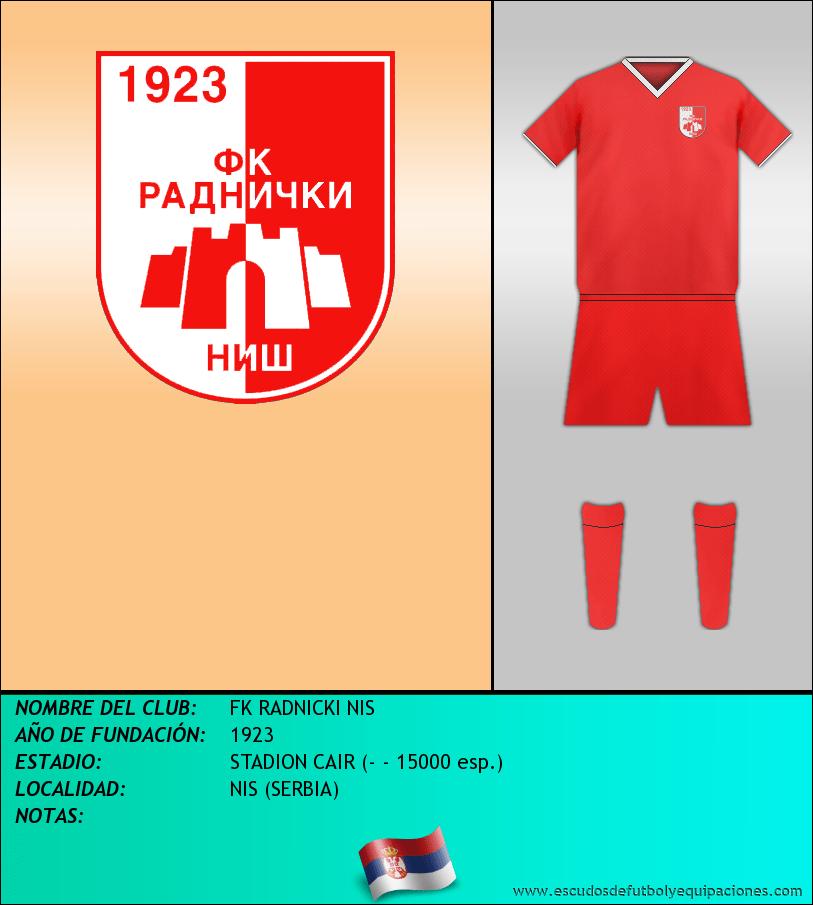 Escudo de FK RADNICKI NIS