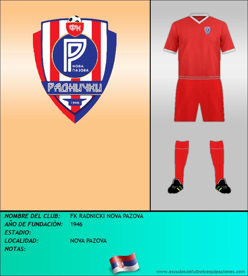 Escudo de FK RADNICKI NOVA PAZOVA