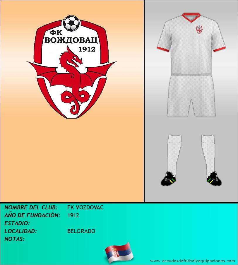 Escudo de FK VOZDOVAC