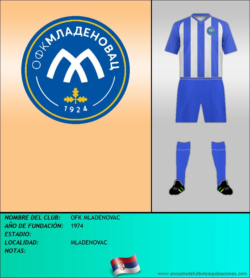 Escudo de OFK MLADENOVAC