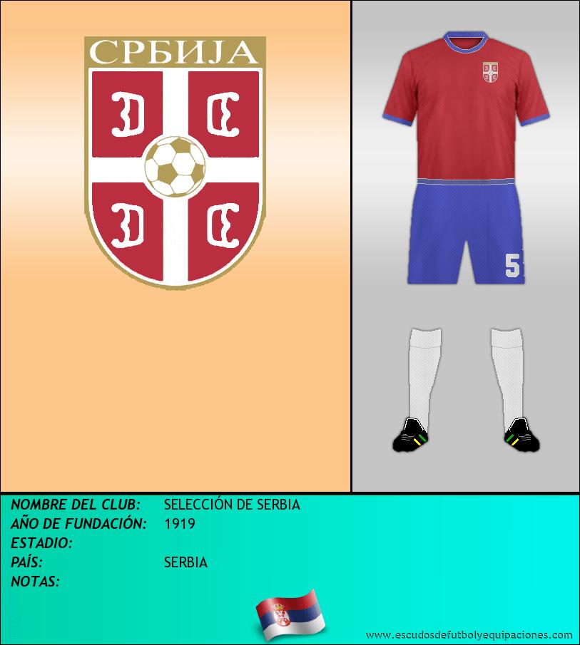 Escudo de SELECCIÓN DE SERBIA