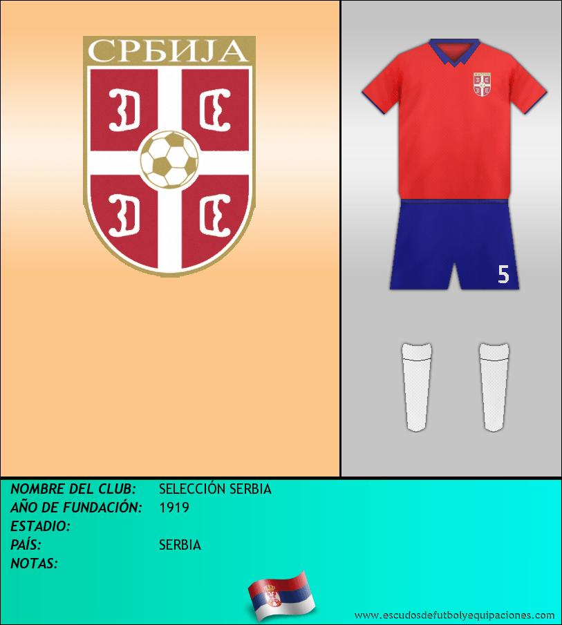 Escudo de SELECCIÓN SERBIA